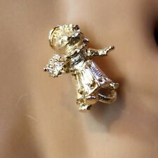 9ct gold new  moveable cat bride charm