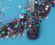 glitter mix acrylic gel nail art       COSMIC MATTER