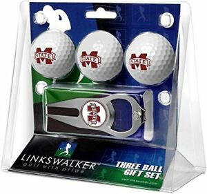Mississippi State Bulldogs Hat Trick Divot Tool & Logo Golf Balls Gift Set