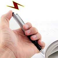 Shocking Electric Shock Novelty Metal Pen Trick Prank Joke Gag Toy Gift Funny