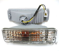 Toyota Hilux 88 95 CRYSTAL Clear CHROME Front Bar Lights Indicator turn signal