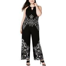 INC Womens Keyhole Printed Halter Jumpsuit Plus BHFO 4104