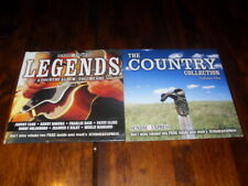 COUNTRY COLLECTION & COUNTRY LEGENDS - CASH, DOLLY, CLINE - 2 x PROMO MUSIC CD's
