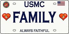 Proud Marine Family  - Magnetic Car Sign - 6in X 3in