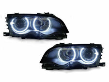DEPO UHP LED Angel Eyes Projector Headlight For 99-01 BMW E46 4D Sedan 5D Wagon