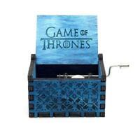 Wooden Hand Cranked Music Box - Star Wars, Game of Thrones, Zelda, Lion King...