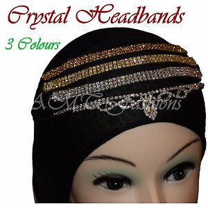 Head Hair Piece Indian Elasticated Jewellery Matha Patti Scarf Hijab Headband