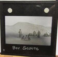 c1910 Early BOY SCOUT Photo - NORTH AFRICA Possibly Glass Photo Slide