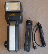 Sunpak Super 622 Handle Flash Strobe w SH-1 Head Bracket + PC sync cable