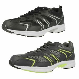 Air Tech Gravity Mens Trainers Black/Silver or Grey/Neon Green (R4B)