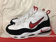 Nike Air Max Uptempo 95 White University Red Black Men's Size 10.5 New CK0892101
