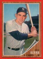 1962 Topps #360 Yogi Berra VG-VGEX WRINKLE HOF New York Yankees FREE SHIPPING