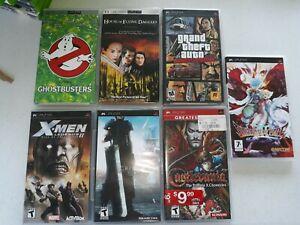 Lot of 7 PSP games & movies-Final Fantasy VII Crisis Core GTA Liberty City more