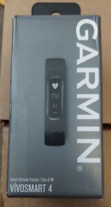 GARMIN VIVOSMART 4 - Size S/M, Black, New in Box