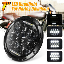 LED Headlight For Harley Cafe Racer Motorcycle For Jeep 7 inch H4 H13 75W Round
