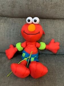 "Splash And Scribble Elmo Bath Soft Toy 12"" 2003 Sesame Street"