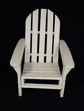 Wood Adirondack Doll Chair Bear Display, Antique White, Miniature