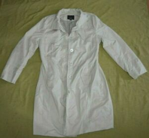 Mossimo Women's Trench Coat Size XXL Long Sleeve Cream with Pockets