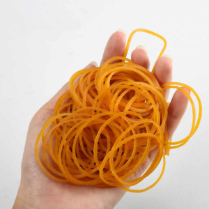300pcs Strong Elastic Colour Rubber Bands No.18 for Home School Office Brown