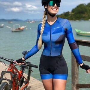 Cycling Sport Suit Women's Jumpsuit Summer Sunscreen Long Sleeve Short Triathlon