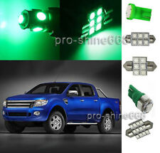 6PCS Green SMD LED lights interior package kit for Ford Ranger 1998-2011