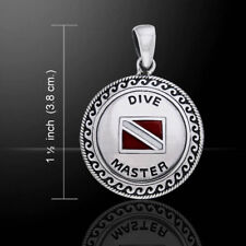 Scuba Dive Master Sterling Silver Pendant by Peter Stone