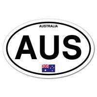 AUS Australia Country Code Oval Sticker Flag Bumper Water Proof Vinyl #7438EN