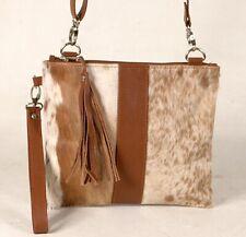 Real Cowhide Cross body Purse Handbag & Hand Clutch  Cow Hide Leather  CC-386