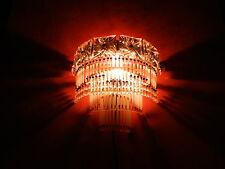 Wandlampe Glasstäbe Perlen 1900 Bleikristallplatten Salonlampe Jugendstil antik