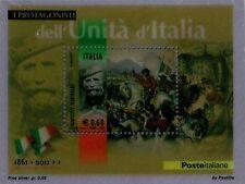 2011 150° Unità d'Italia - Giuseppe Garibaldi su lamina d'argento