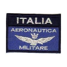 [Patch] BANDIERA AERONAUTICA ITALIA MILITARE var. blu cm 7,5x5 toppa ricamo -349