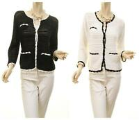 Celebrity Women Coco Elegant Crochet Knitted Soft Cardigan Sweater Top S M L NEW