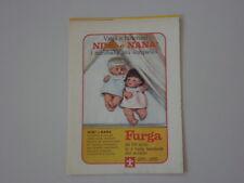 advertising Pubblicità 1970 BAMBOLE NINI' e NANA' FURGA