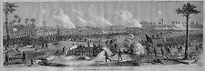 CIVIL WAR HISTORY BATTLE ASSAULT ON FORT BLAKELY 1865 MOBILE ANTIQUE ENGRAVING