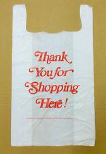 "50 18x8x32 Jumbo 32"" Large Retail Thank You High Density Plastic T-Shirt Bags"