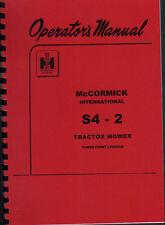 "McCormick International ""S4 - 2"" Tractor Mower Operator Manual Book"