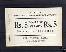 MAURITIUS 1954 5r BOOKLET WITH GREY COVER SB2.