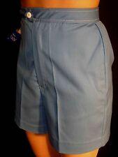 XXS~XS NOS VTG 60s 70s Blue 24 HIGH WAIST ZIP UP SHORTS Hot Rod Car Club Pants