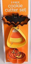 Halloween Cookie Cutters  Bat  Candy Corn  Pumpkin