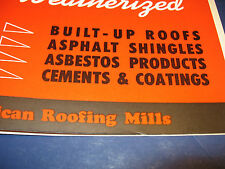 Old American Roofing Mills 1954 catalog Asbestos Wallboard Duroc Siding
