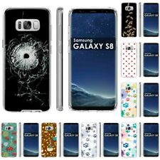 Thin Gel Design Protective Phone Case Cover for Samsung Galaxy S8,Bullet Print