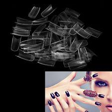 500Pcs Clear Half Transparent French Acrylic UV Gel Manicure False Nail Art Tips
