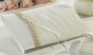 """Lillian Rose Wedding Bride 11"""" Guest Book - Crushed Taupe GB270I-D DEFECT"""