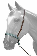 WESTERN HORSE TURQUOISE LEATHER TIE DOWN, NOSE BAND ROPING BARREL RACING GAMES