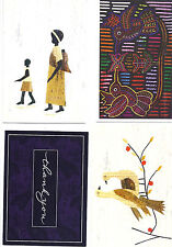 Lot 4 Greeting cards + 3 envelope, Thank you, bird, nature cute