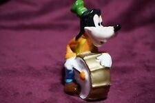 "Disney "" Goofy playing Drum "" Vintage Ceramic Figurine Made in Japan 1970s"