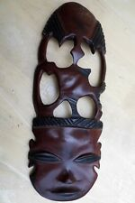 Wooden African Tribal Mask Wall Hanging Decoration Art Hand Carved