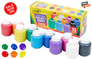 WASHABLE PAINT For Kids Toddler Baby Finger Craft Crayola Paints NON TOXIC