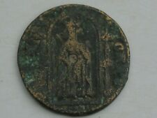 Medieval Norman England Jeton Standing Figure King Type 23mm 2.77g, holed