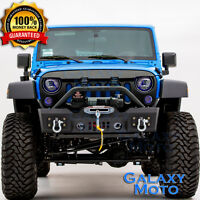 Stubby Rock Crawler Front Bumper+Fog Light Hole for 07-18 Jeep JK Wrangler